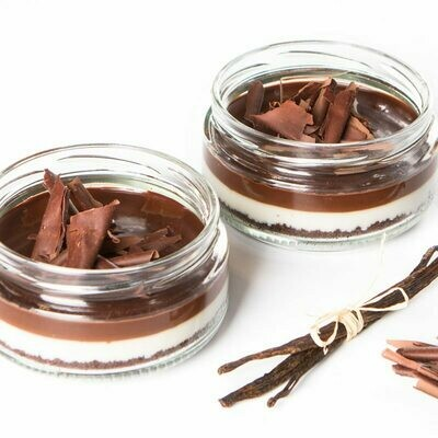 Cake With Dark Chocolate (Mono) Glass