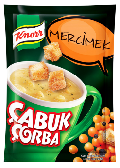 Knorr Cup Mercimek Soup with Cream Quick Serve- Cabuk Corba 19gr X 4