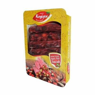 KEYIFCE Fistikli Fitil Lokum Narli - Delight with Pistachios Pomegranate 350 GR