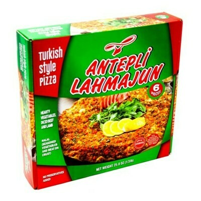 Antepli Lahmacun 6 pcs (Frozen) (Mild or Hot)