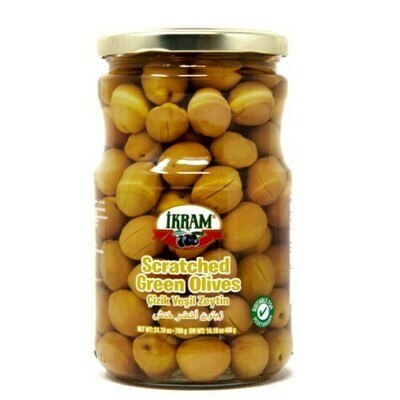 Ikram GREEN OLIVES SCRATCHED 720GR