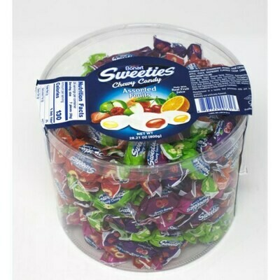 Bonart ASSORTED FRUIT CHEWY CANDY DAMLA 800GR