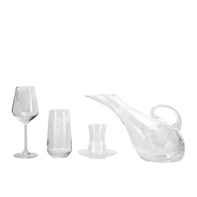 Karaca Helen 49 Piece Dinner Set Collection Glass Set Gilded