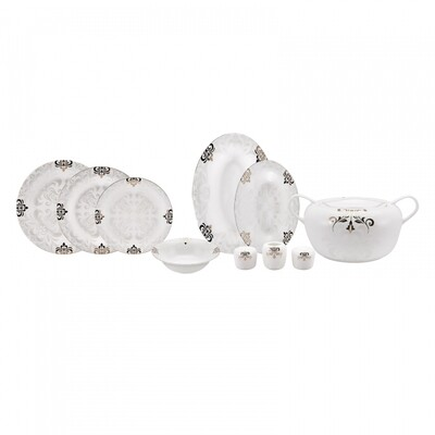 Karaca Fine Pearl Selina 62 Pieces 12 Person Pearl Dinner Set
