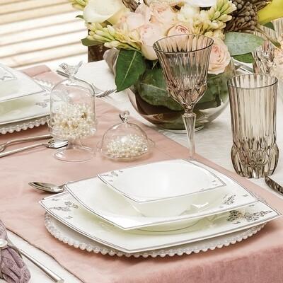 Karaca Fine Pearl Mariposa 86 Pcs İnci Yemek Takımı