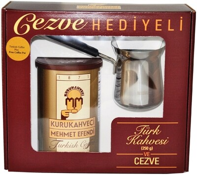 MEHMET EFENDI TURKISH COFFEE with Assorted Baklava in Gift Box