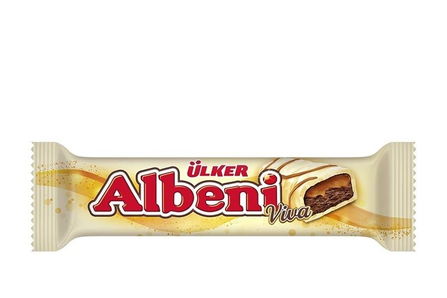 ULKER ALBENI Viva WHITE CHOCOLATE BAR 36GR