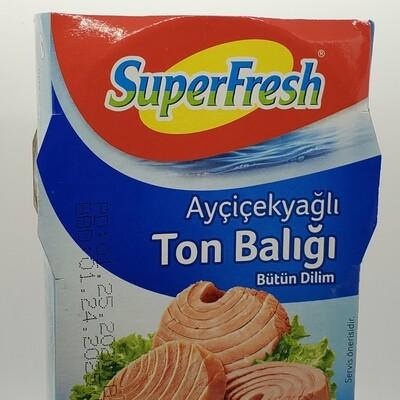 SUPERFRESH TON - Tuna Fish in SUNFLOWER OIL 2x160gr