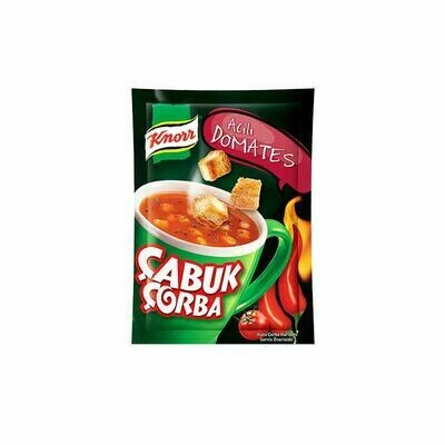 Knorr Cup Hot Tomatoes Soup Quick Serve- Cabuk Corba 19gr X 4