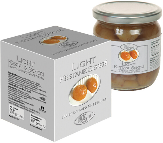 KAFKAS LIGHT CANDIED CHESTNUTS IN SYRUP 500GR