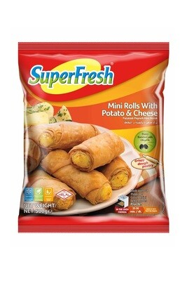 SUPERFRESH MINI ROLL BOREK W POTATO&CHEESE 500GR  (Frozen)