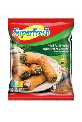 SUPERFRESH MINI ROLL BOREK W SPINACH&CHEESE 500GR  (Frozen)