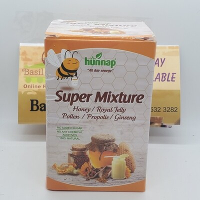 Hunnap Super Mixture Honey - pollen for All Day Energy 8 oz