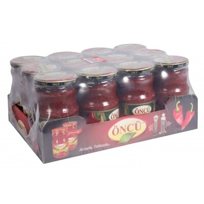Oncu Middle Hot Pepper and Tomato Paste mixed 700gr X 12 pcs