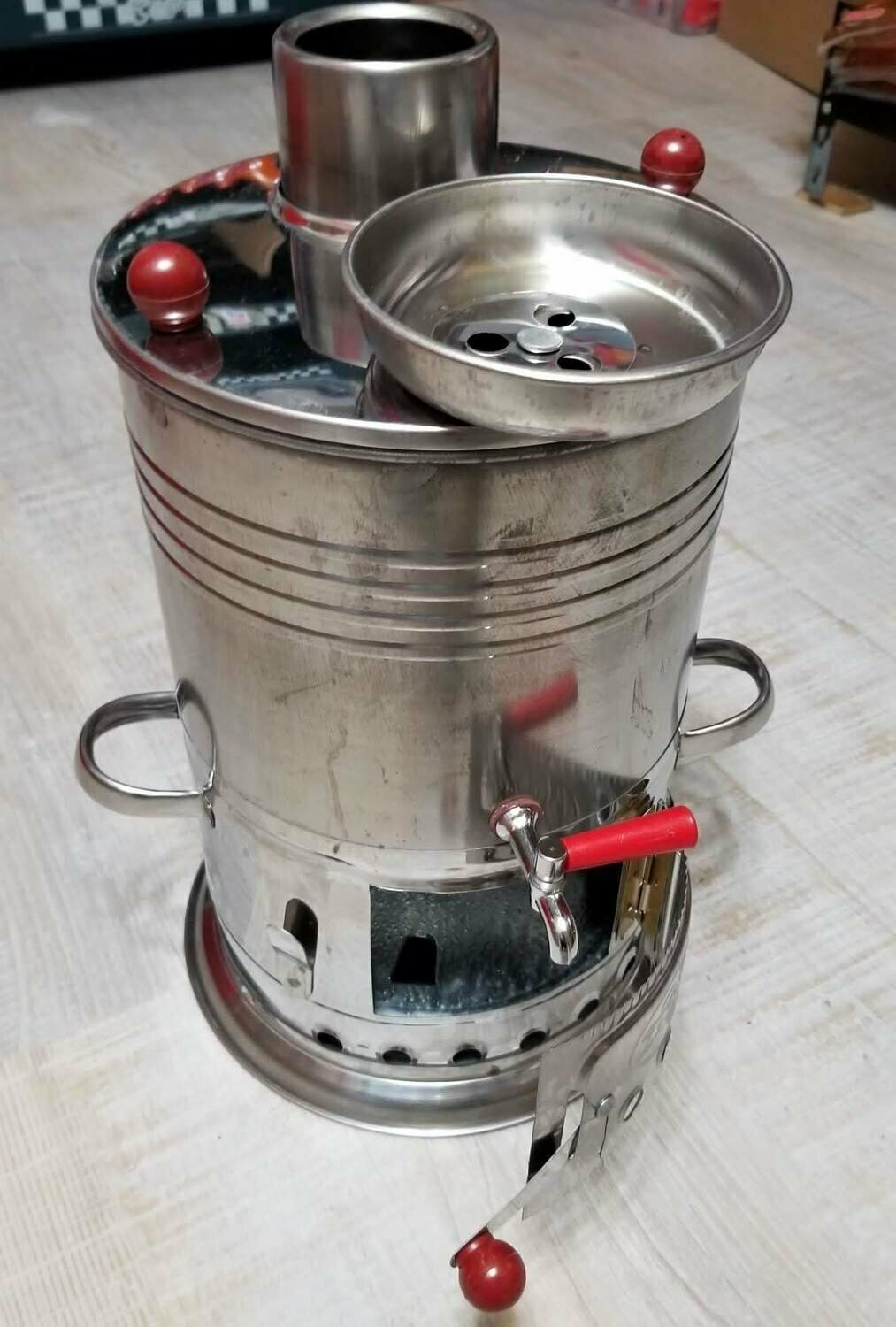 Samovar Semaver (Tek musluklu Komurlu) Tea Pot  Included
