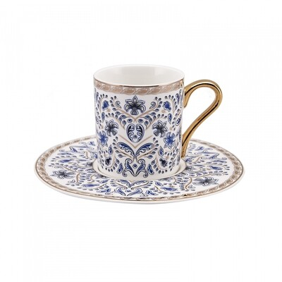 KARACA DELFT BLUE 6 Person  Coffee Cup