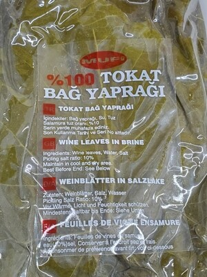 Tokat Salamura Grape Vine Leaves Product of Turkey 500gr by mufi