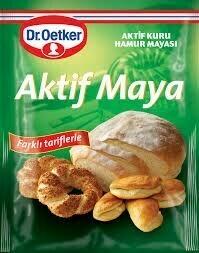 Dr. Oetker Aktif kuru Maya dry  Instant Active Yeast yeast 90gr