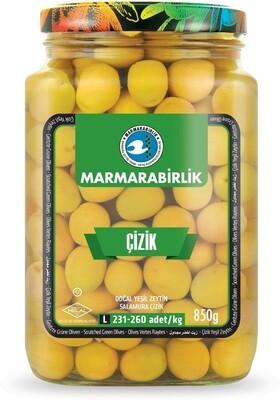 Marmara Birlik GREEN OLIVES M SCRATCHED (261-290) 850GR GLASS