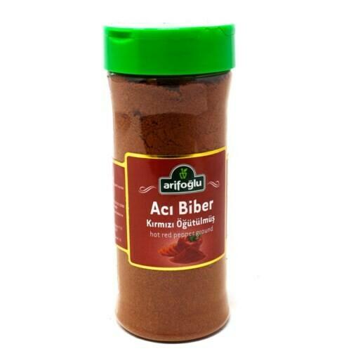Arifoglu Toz Aci BIBER ( HOT RED PEPPER ground ) PET JAR 175gr