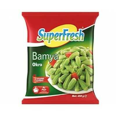 SUPERFRESH Okra  450gr Turkish Bamya  (Frozen)