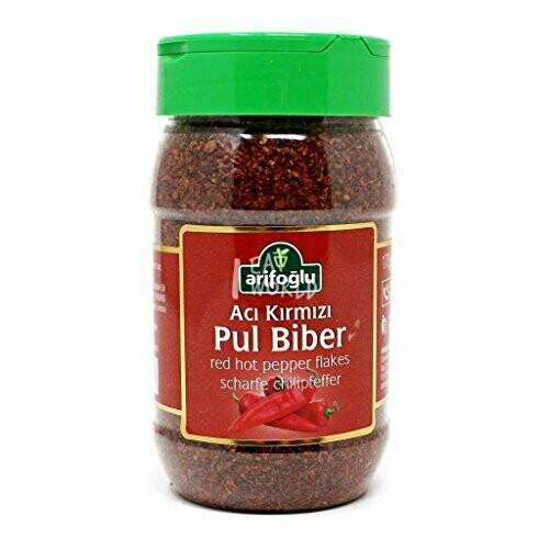 Arifoglu Hot Peppers Flakes (Aci Pul Biber) 175 GR PET JAR