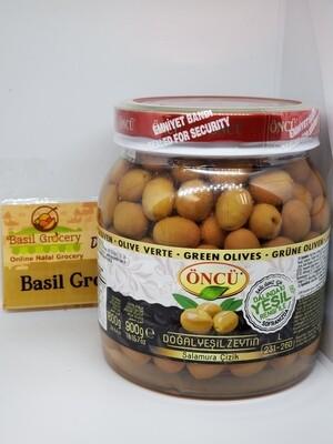 Oncu Starched Green Olive Salamura Cizik Zeytin