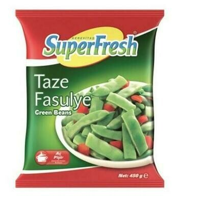 SUPERFRESH Green Beans 450gr Turkish Taze Fasulye  (Frozen)