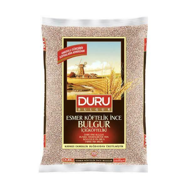 Duru Brown Fine Bulgur (kisirlik ve cig koftelik) 2.5kg