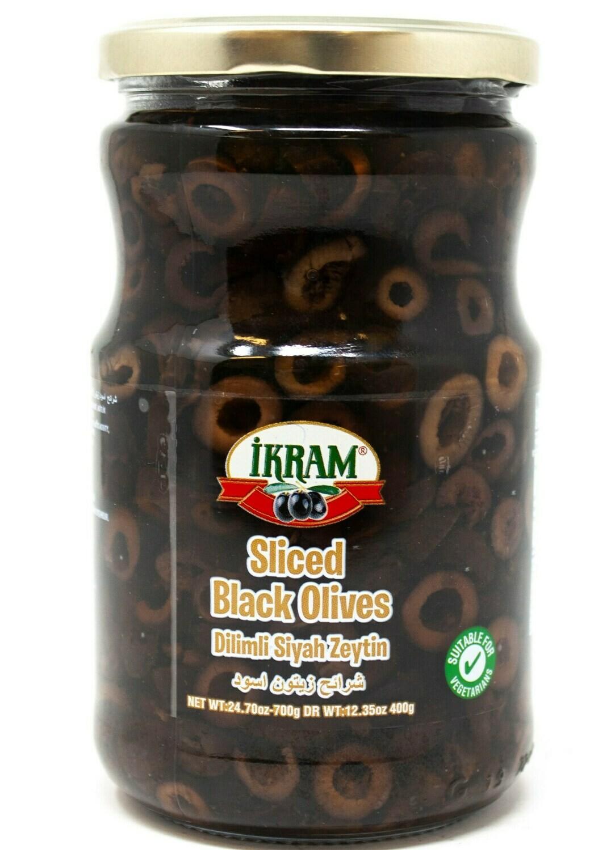 Ikram SLICED BLACK OLIVES 350GR