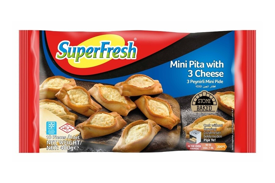 SUPERFRESH MINI PIDE WITH CHEESE 400GR