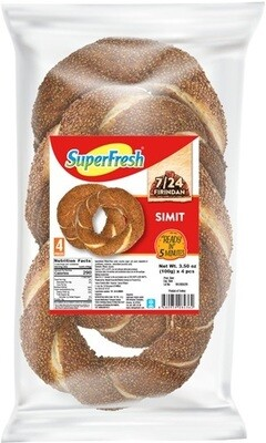 SUPERFRESH TURKISH BAGELS (SIMIT) 100GRx4PCS