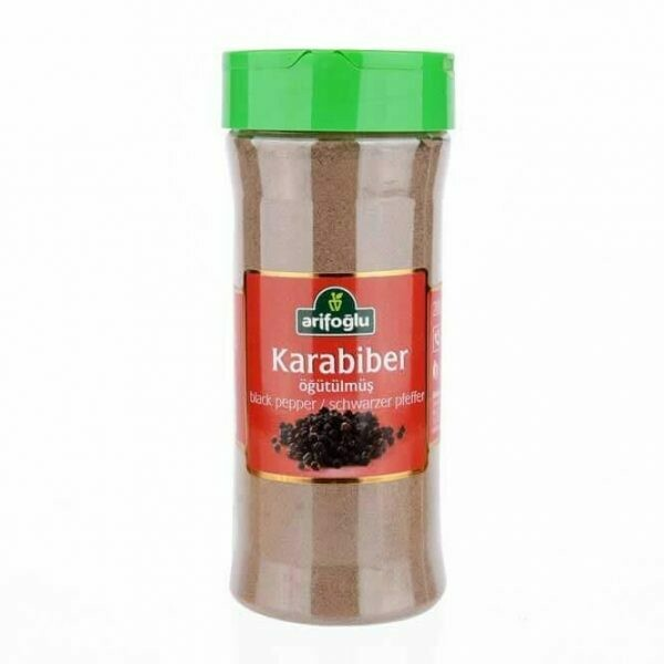 Arifoglu ground black pepper pet jar  200gr