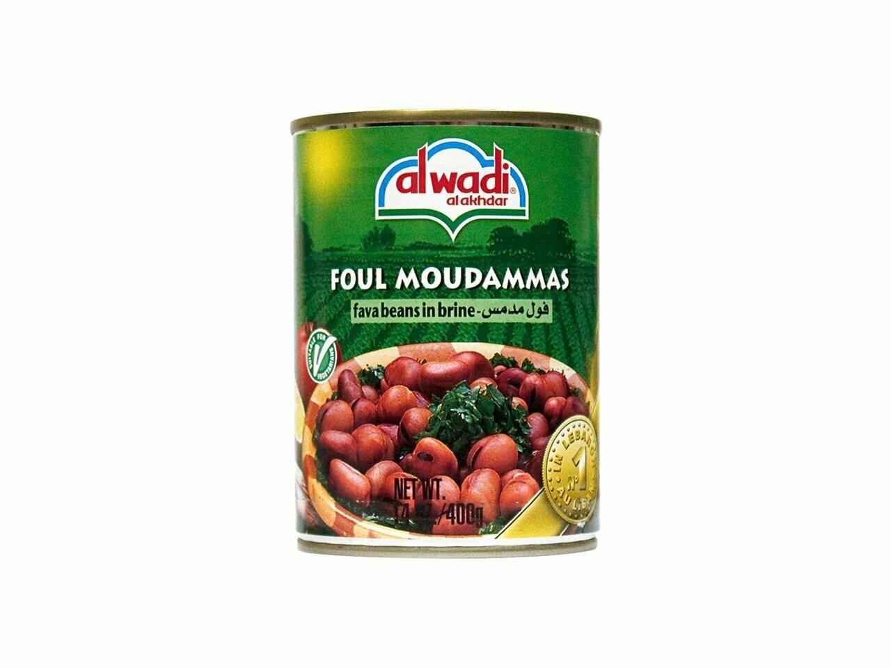Al Wadi Fava Beans in Brine 14 oz tin