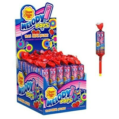 CHUPA CHUPS MELODY STRAWBERRY 15GR