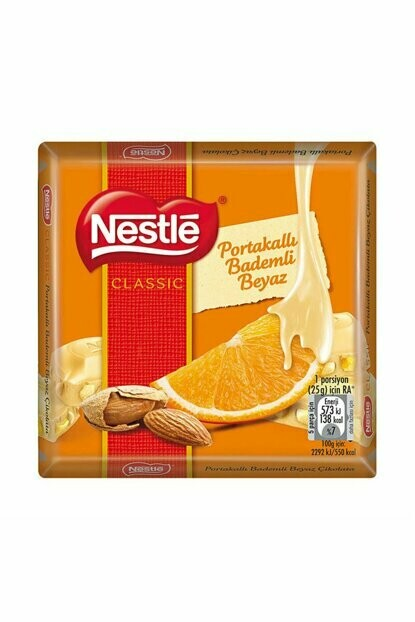 Nestle Damak Inci White chocolate with Almond and Orange  65gr