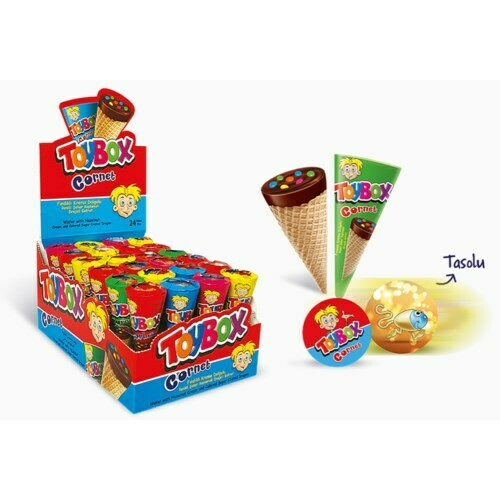 TOYBOX FINDIK KREMALI KORNET 25GR HAZELNUT CHOCOLATE