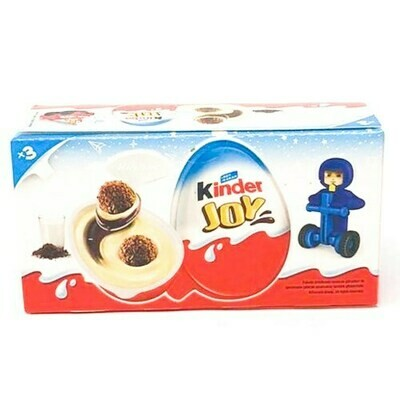 KINDER Suprise Egg  JOY BOYS 20GR x 3 pcs