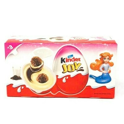 KINDER Suprise Egg  JOY GIRLS 20GR x 3 pcs