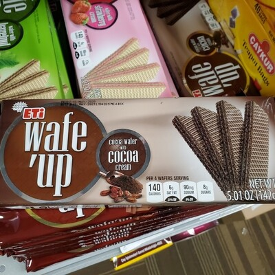 Eti Hosbes WAFE UP cocoa wafer with cocoa cream 142GR