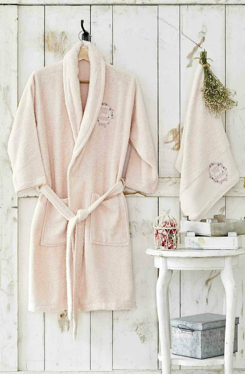 KARACA HOME CROWN POWDER YOUNG BATHROBE SET