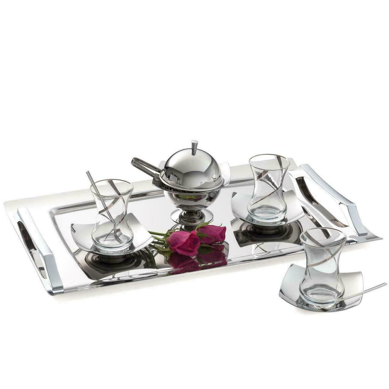 Karaca 40 Pieces Tea Set Platino (Tea Set for 12)
