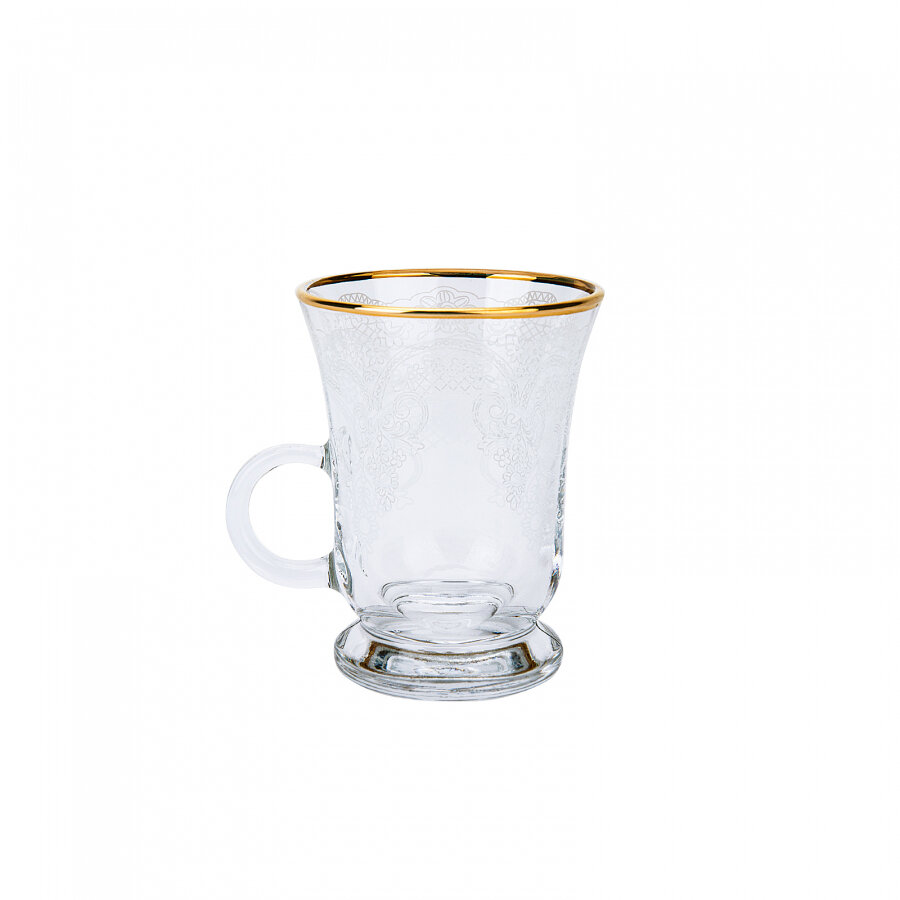 KARACA BELLA KULPLU 6 PERSON TEA GLASSES