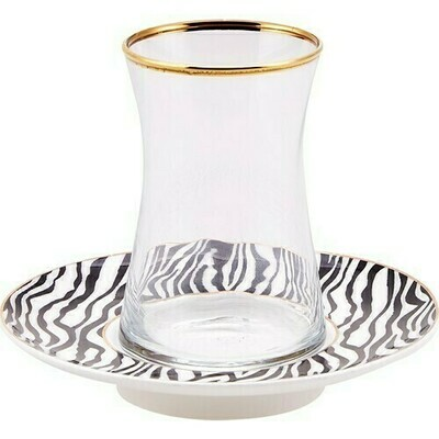 KARACA ZEBRA 6 LI ÇAY SETİ  (Tea set for 6)