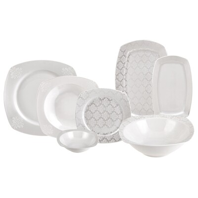Karaca Yaren 59 Pieces 12 Man Dinner Set Dinnerware set
