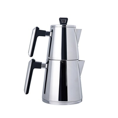 Karaca Space PowerSteel Pro 316 Steel Teapot Set Medium