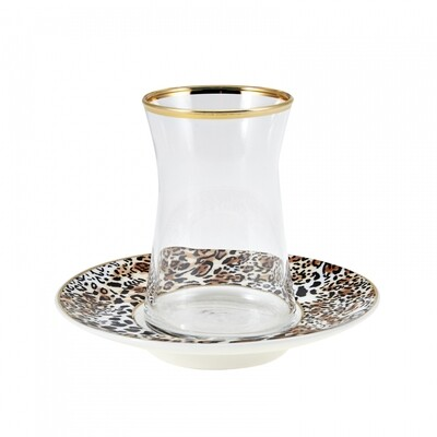 KARACA LEOPARD 6 LI ÇAY SETİ  (Tea set for 6)