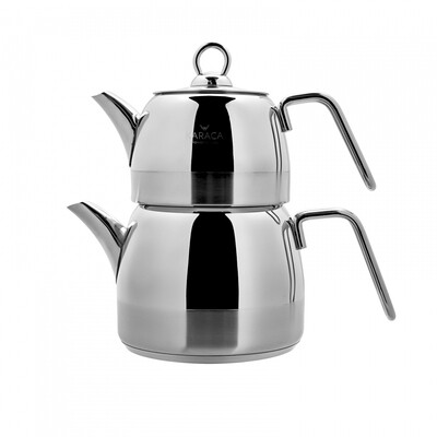 Karaca Kano PowerSteel 316 Steel Teapot Set