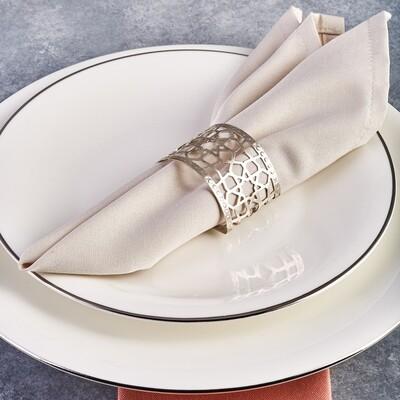 Karaca Seljuk Large 6-Piece Napkin Ring Set SILVER