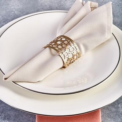Karaca Seljuk Large 6-Piece Napkin Ring Set Gold